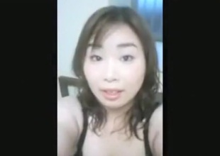 Busty asian crumpet upon hairy pussy makes a masturbation sextape for her bf