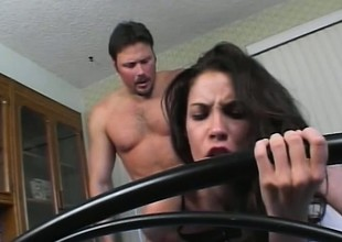 Trinity's sighs of delight vitalize her man to screw her a-hole even harder