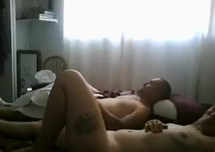 Impoverish watches a friend fucking his gf in his own sofa
