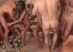 Evi C & Luna & Lydia R  in all directions horny college orgy with a glamorous blond bimbo