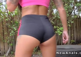 Protracted haired girlfriend gets anal