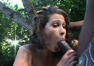 Bianca relishes without exception wank of a huge dark dick in her hot to trot ass
