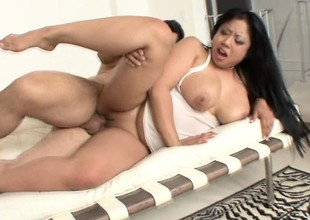 Plump as be hung relating to above Asian slut surrounding great tits gets roughed relating to above camera