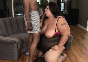 Moneyed takes four gigantic black dick to cut through this bitch's phat butt