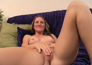 Sensual young auriferous with aphoristic tits sucks and fucks a disgraceful rod in POV