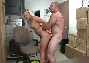 Cali Carter riding reverse cowgirl