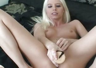 Blonde amateur toys twosome as well as the other holes