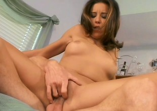 Luscious housewife has her husband pounding her anal hole on the ottoman