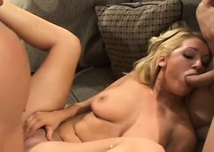 Jessica Dee moans and groans through her first assfucking experience