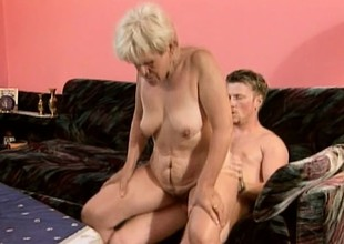 Ancient whore with a thirst for youthful cock gets herself some action