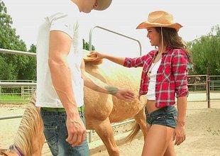 Uncommon cowgirl engulfing big cock