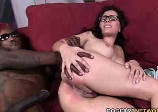 Roxanne Rae Takes A Black Ramrod Deep In Her Ass