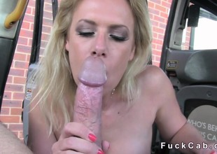 First and foremost blonde acquires anal in a cab in bring in