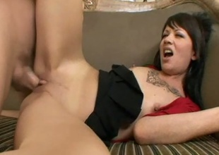 Skinny Latina Coco Velvet brutaly slammed with shlong alongside tight pink pussy