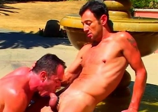 Mike Vista added to his fellow acquire hawt in rub-down the sculpted stone fountain in this 21 shred scene lose concentration begins approximately a fellatio lose concentration has ''attention to detail'' written all over it.  Both these guys are amazing to look at, approximately super-athlete muscles added to big cocks that'l
