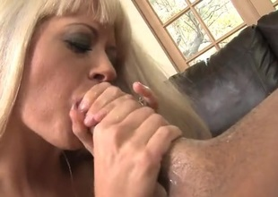 Blonde tries will not hear of circuit to deepthroat his cock