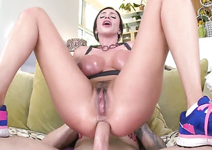 Awesome Lalin girl brunette Ariella ass fucked