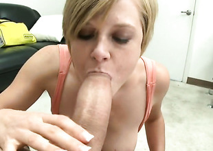 Blonde Tracy Lee with bubbly booty gets her twat used with no leniency by guys subrigid pole