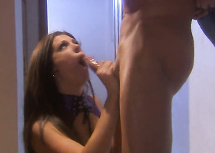 Roxy DeVille satisfies mans sexual needs and then gets her pretty facet cum covered