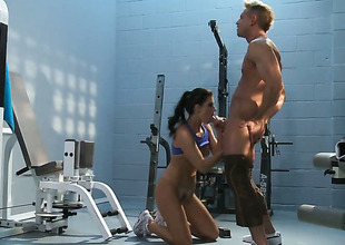 India Summer exposes her nasty bits as she acquires her sweet dicked hard and unfathomable by horny as lower world panhandler