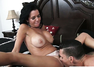 Clover pops out his outfit to fuck sex starved Veronica Avluvs cunt