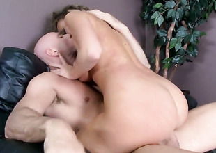 Johnny Sins has unthinkable oral sex with Alexis Adams with giant jugs