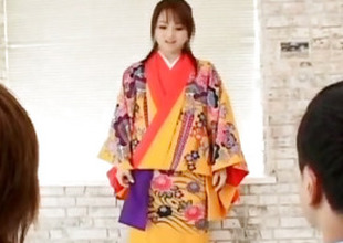 Miina is nude of kimono and substantially fucked