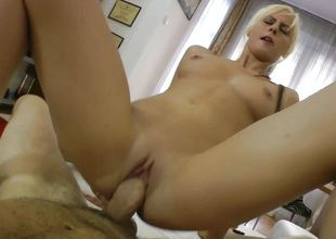 Dirty blonde is fucked hard by Rocco Siffredi