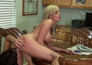 Stormy Daniels with an increment of Lily Paige are doing some pussy fingering relative to this video. They are on the kitchen counter with an increment of they are very different from reticence 'coz of the audience.
