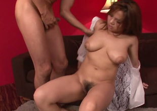 Big boobed Asian hottie Kanna Itou looks breathtaking in all positions