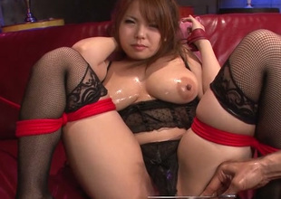 Impressively hot Japanese lady Kanna Itou wanna reconcile oneself to be in love with tunnel fucked with toy