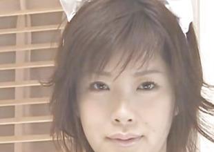 Kasumi Uehara maid is fucked with vibrator