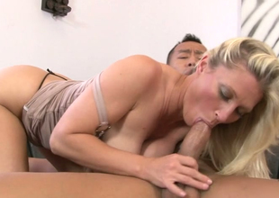 Alluring blonde mommy Devon Lee acquires magical by a tattooed stud