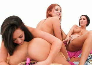 Jayden Jaymes, Dylan Ryder and Jayden Cole take effect with mating toys