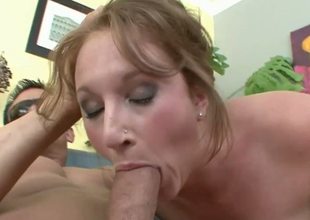Slutty brownhead wench Farah sucking massive rod balls dreadful