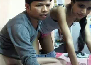 Horny desi stroking his dick while videochatting on livecam