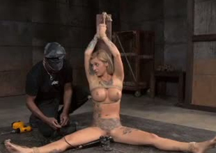 Hawt girl Endza Adair is fucked intensively here copulation machine in BDSM porn video