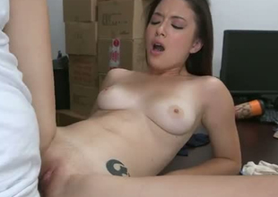 Petite babe Daisy Summers in one of her 1st auditions