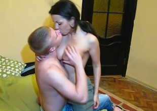 Busty Russian girl is having steamy casual sex after lunch