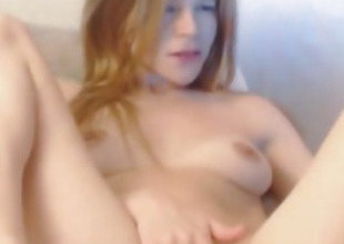 Horny Webcam Chick Finger Fucks the brush Tight Pussy