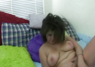 Hot Large Tits Italian Mollycoddle Caught Masturbating On Webcam