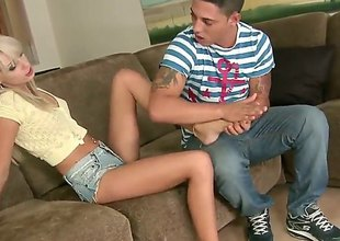 Blonde latin Erica Fontes is curious about hardcore fucking