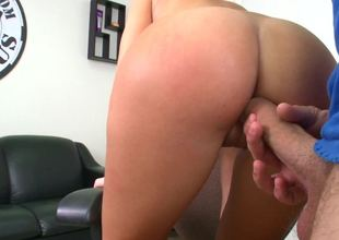 Amateur with an amazing ass is getting slapped and penetrated
