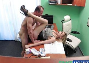 Tight pussy makes doctor cum twice