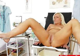 Foxy blond receives a gyno testing