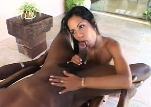 Attractive Latin witch is bringing about fantastic cum-stick with her face hole