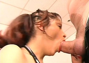 3 horny studs take turns on a young slut's amazing meat wallet