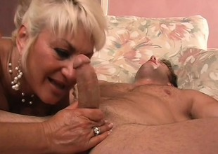 Stacked mature blond is vulnerable the prowl for a young stud with a big cock