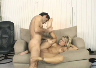 Miserable chubby middle-aged bitch is having sweet anal banging