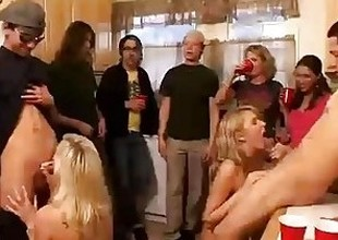 Set up of horny college angels start an orgy at a house troop